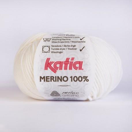 Lanas Katia Merino 100% blanco 1