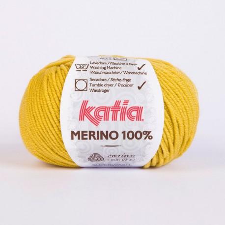 Lanas Katia Merino 100% amarillo 12
