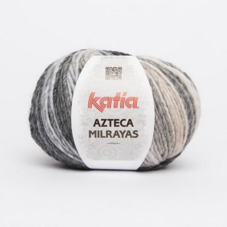 Lanas Katia Azteca Milrayas gris beige 701
