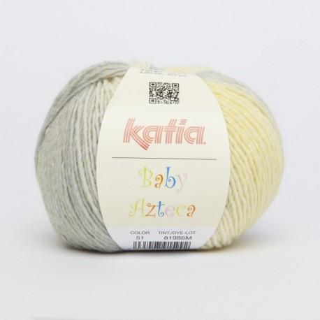Lanas Katia Baby Azteca amarillo gris 51