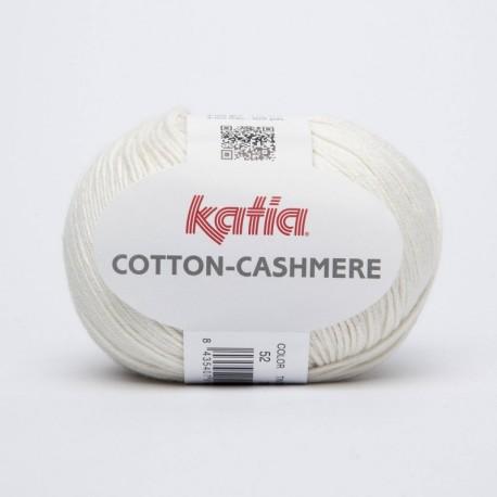 Lanas Katia Cotton Cashmere blanco 52