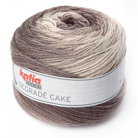 Lanas Katia Degradé Cake marrón corzo 80
