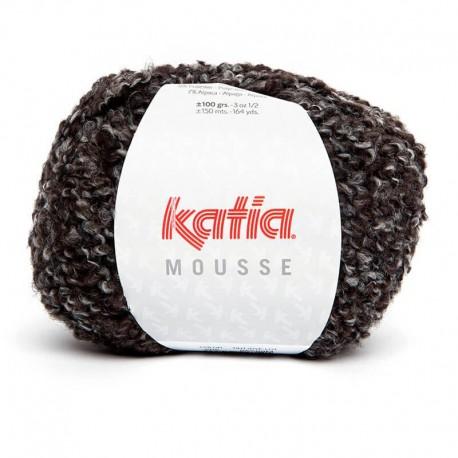 Lanas Katia Mousse negro marrón corzo 205