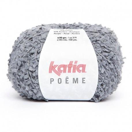 Lanas Katia Poeme gris medio 55