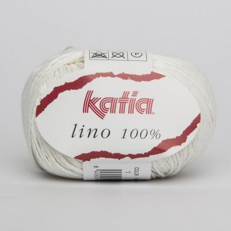 Lanas Katia Lino 100% Blanco 1