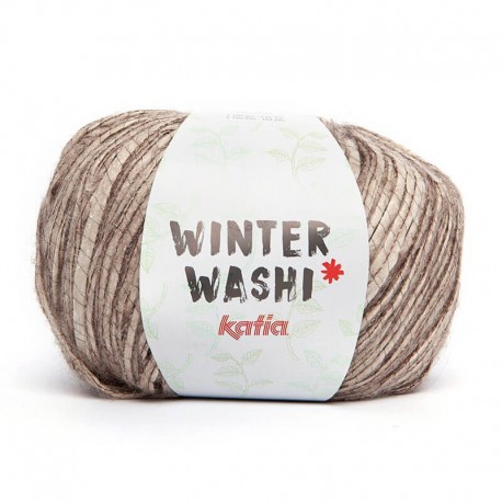 Katia Winter Washi Marrón-Gris piedra 202