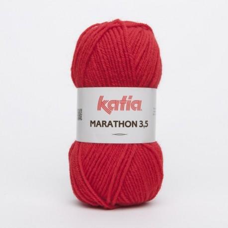 Lanas Katia Marathon 3,5 Rojo 4